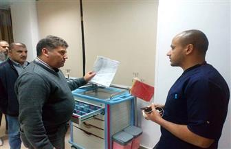 أبوهاشم  يتفقد أعمال التطوير بمستشفى طابا المركزي  صور