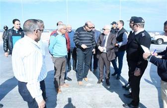 محافظ بورسعيد يتابع اللمسات النهائية في أعمال منفذ الجميل الجمركي الجديد ببورسعيد | صور