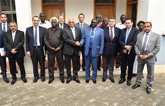 عبدالعال يلتقي أونيوتي أديجو وزير الزراعة والأمن الغذائي بجنوب السودان / صور