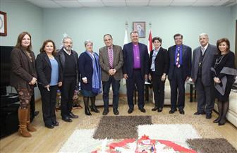 رئيس الطائفة الإنجيلية يستقبل وفدا من مجلس كنائس الشرق الأوسط |صور