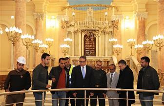 وزير الآثار يتفقد المعبد اليهودي وعددا من المتاحف الأثرية بمدينة الإسكندرية | صور