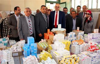 """جامعة طنطا: مساعدات مالية وأدوية بالمجان لـ 1500 مواطن فى قافلة """"دلبشان"""" بكفرالزيات   صور"""