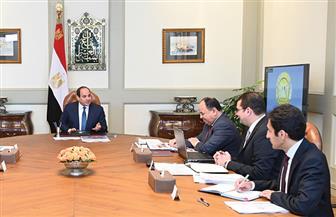 الرئيس السيسي يجتمع مع رئيس مجلس الوزراء ووزير المالية ونائبيه