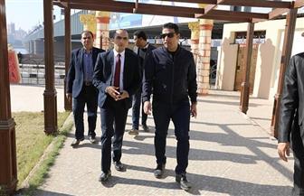 نائب محافظ سوهاج يتفقد أعمال تطوير الكورنيش الشرقي | صور