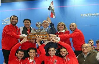 مصر تهزم إنجلترا وتحافظ على لقبها كبطل العالم في الإسكواش رجال | صور