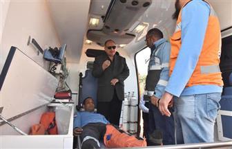 محافظ أسيوط يتفقد نقطة إسعاف بديروط ويستقل سيارة للاطمئنان على مدى الجاهزية لمواجهة الطوارئ | صور