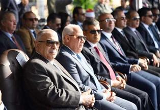 محافظ بورسعيد يشهد العرض العسكري والفني احتفالا بالعيد القومي | صور