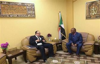 السفير المصري بالخرطوم يلتقي بوزير الثروة الحيوانية السوداني