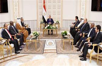 الرئيس السيسي يلتقي مجموعة من وزراء التعليم والبحث العلمي العرب
