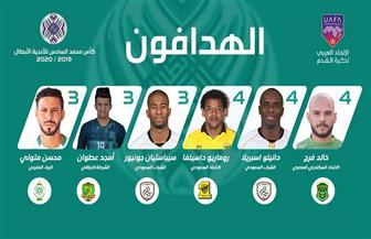 خالد قمر يتصدر قائمة هدافي البطولة العربية