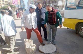 رفع كفاءة النظافة العامة ومراجعة بيارات الصرف الصحي بمدن كفر الشيخ| صور