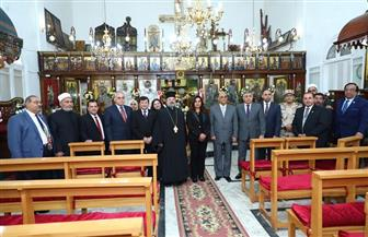 محافظ دمياط تشهد الاحتفال بعيد الميلاد المجيد بكنيسة الروم الأرثوذكس | صور
