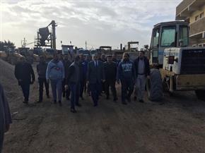 محافظ كفر الشيخ يتفقد الورشة المركزية ووحدة الرصف | صور