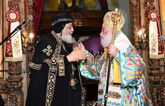 البابا تواضروس يهنئ بطريرك الإسكندرية للروم الأرثوذكس بالكريسماس | صور
