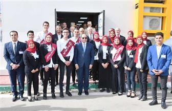 الرئيس السيسي يفتتح مجمع الإنتاج الحيواني المتكامل بالفيوم