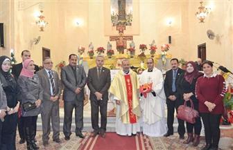 """المصريين الأحرار بالسويس يهنئ """"اللاتين والفرنسيسكان"""" بعيد الميلاد المجيد"""