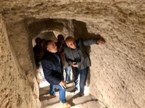وزيري يتفقد الأعمال النهائية لمشروع ترميم الهرم المدرج بمنطقة سقارة الأثرية | صور
