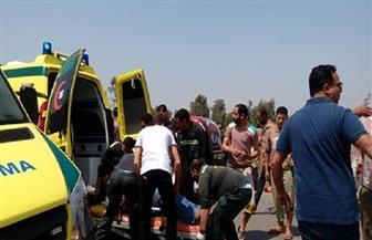 بينهم طفلان.. إصابة 11 شخصا فى حادثي سير بسوهاج