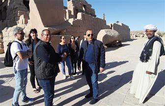 مصطفى وزيري يتفقد المواقع الأثرية بمدينة الأقصر | صور