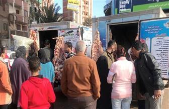 قوافل لبيع اللحوم والمواد الغذائية بأسعار مخفضة في طنطا| صور