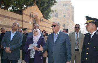 محافظ القاهرة يتفقد منطقة مجمع الأديان في مصر القديمة |صور