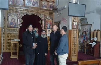 رئيس مدينة قطور يزور عددا من الكنائس لمراجعة النظافة والإنارة والتهنئة بأعياد الميلاد |صور