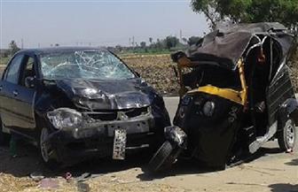 إصابة 7 مواطنين فى حادث تصادم بوادى النطرون