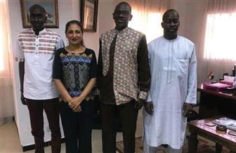 سفير مصر في داكار تستقبل مسئولي وزارة الثقافة السنغالية استعدادا لمعرض القاهرة الدولي للكتاب | صور