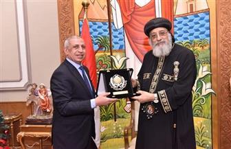 البابا تواضروس يستقبل رئيس الأكاديمية العربية للعلوم والتكنولوچيا |صور