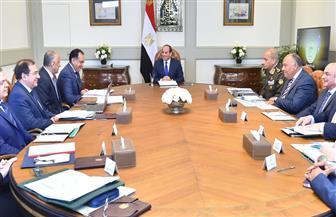 الرئيس السيسي يجتمع مع رئيس الوزراء ويوجه بمواصلة بذل أقصى الجهد للحفاظ على الأمن
