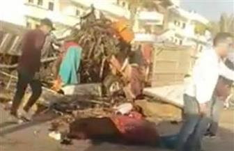 أسماء المصابين في حادث تصادم مصنع الملابس بطريق بورسعيد - دمياط