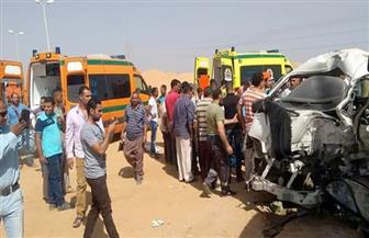 إصابة 6 طلاب في حادث تصادم بسوهاج