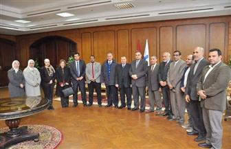 رئيس جامعة كفر الشيخ يستقبل وفد مشروع دعم وتطوير الفاعلية التعليمية | صور