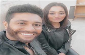 """شاهد راندا البحيرى ومحمد عز فى أول مشهد من كواليس """"باركود 615"""""""