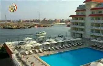 الرئيس السيسي يشهد فيلما تسجيليا عن المشروعات القومية بدمياط