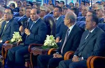 تفاصيل افتتاح الرئيس السيسي 10 مشروعات قومية وتنموية في دمياط | صور
