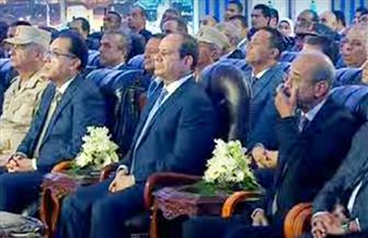 الرئيس السيسي يشاهد فيلما تسجيليا حول تطوير بحيرة المنزلة