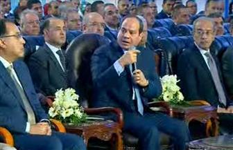 """الرئيس السيسي: """"والله اللي بيتعمل في مصر لم يخطر على بال أحد"""""""