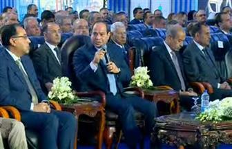 الرئيس السيسي: تسليم أراضي المصانع مرفقة بالكامل فى 16 مدينة جديدة
