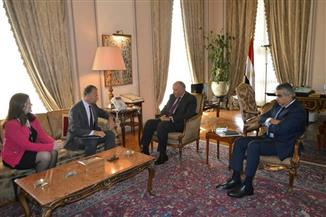 سامح شكرى يستقبل السفير الأمريكى الجديد بمقر وزارة الخارجية