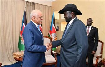 خلال لقائه سيلفا كير.. رئيس مجلس النواب يؤكد حرص مصر على إحلال السلام في جنوب السودان | صور