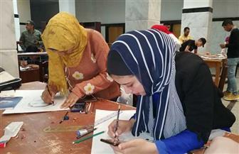 30 طالبًا وطالبة يشاركون في مسابقة أفضل بورتريه بجامعة الفيوم   صور