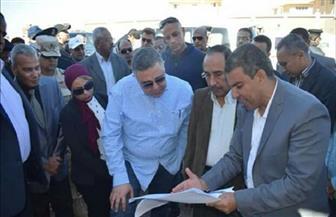محافظ البحر الأحمر يتفقد مشروع مساكن الروضة بمدينة رأس غارب | صور