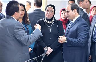جولة تفقدية للرئيس السيسي في مدينة دمياط للأثاث