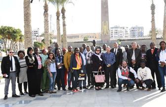 وفد الاتحاد الإفريقي يزور عددا من إدارات محافظة بورسعيد ومتحف النصر وحديقة المسلة| صور
