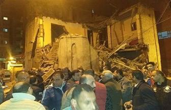 انهيار منزل مكون من طابقين بحارة الزيتونة بمدينة دسوق كفر الشيخ بدون ضحايا