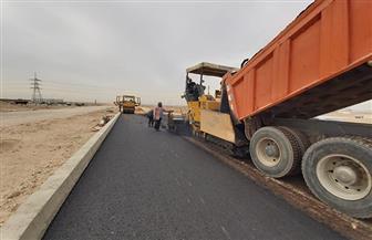 رصف الطريق بين المطورين والروبيكي بطول ٦ كم بمدينة العاشر من رمضان   صور