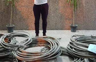 القبض على عاطل بعد سرقته 30 كيلو كابلات بمدينة نصر