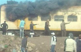 إخماد حريق فى قطار بكفر الزيات دون خسائر بشرية   صور
