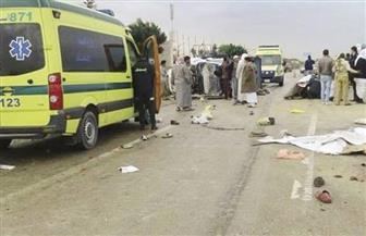 إصابة 24 عاملا في حادث تصادم سيارتين بالشرقية
